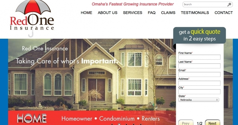 Red One Insurance's Lead Generation Website