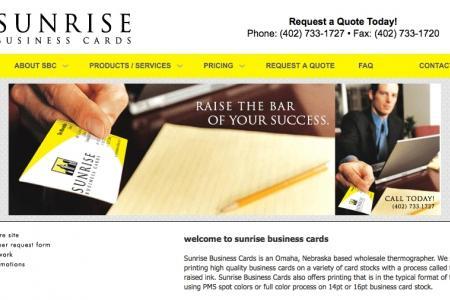Sunrise Business Cards