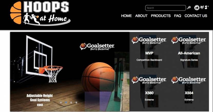 Hoops At Home Branding